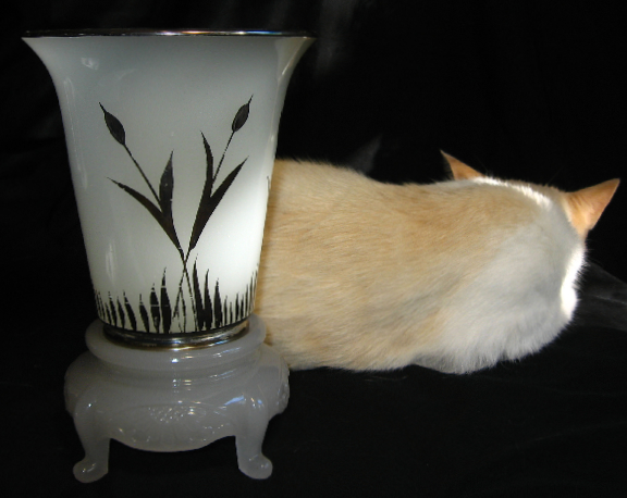 Beaumont Glass Vase, back