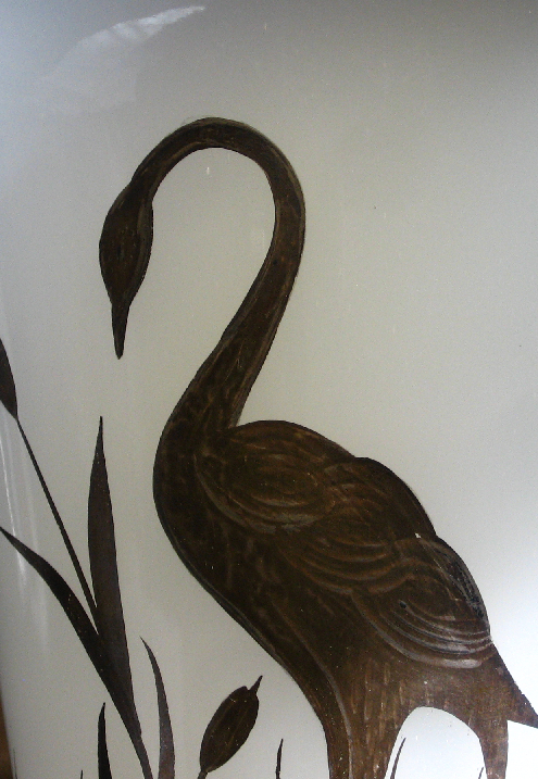 Beaumont Ferlux vase with Heron detail