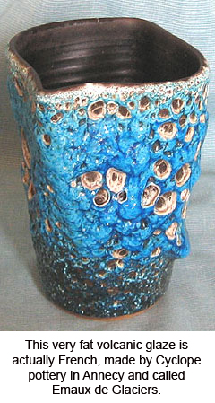 Cyclope French fat lava glaze vase