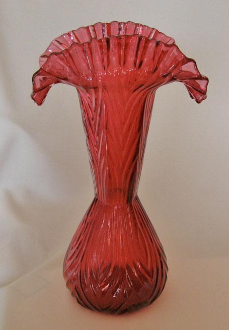 Fenton Glass Cranberry Vase Shape 3361