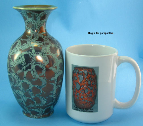 Fohr West German Pottery Vase With Patina Glaze