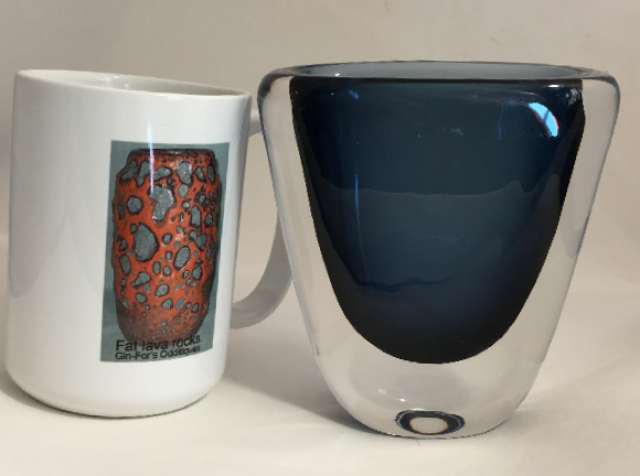 Orrefors Vase Dusk series with mug for