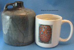 Otto Keramik West German pottery jug with gray