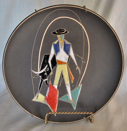 Ruscha Plate, Torero Decor, West German