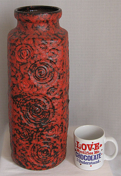 Scheurich Keramik Jura Floor Vase West German Pottery